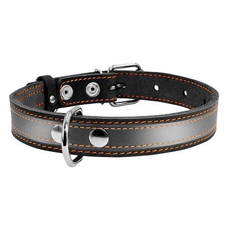 Ошейник для собак CoLLar крупных пород со светоотражающей лентой Черный 02981