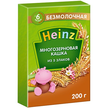 Каша Heinz безмолочная 5злаков 200г с 6месяцев