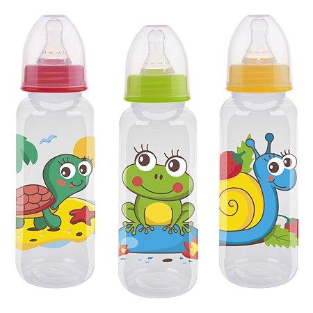 Бутылочка Курносики с силиконовой соской 250мл 11101 в ассортименте