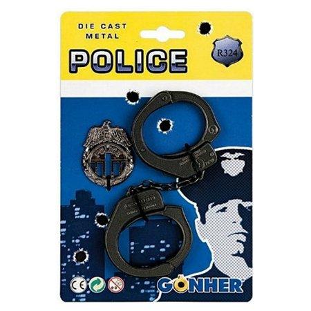 Набор полицейского Gonher Наручники и значок