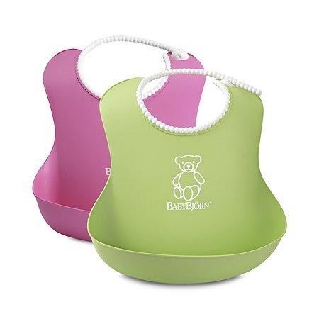 Комплект из 2-х нагрудников BabyBjorn (зеленый и розовый)