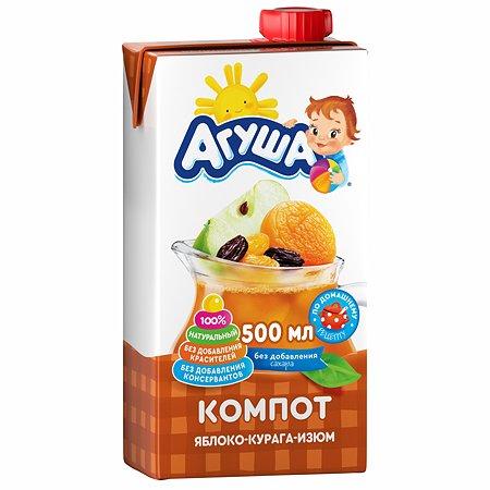 Компот Агуша курага-изюм-яблоко 0.5л с 3лет
