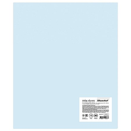 Набор обложек для учащихся старших классов Silwerhof Пластилиновая коллекция 15шт в ассортименте 442343