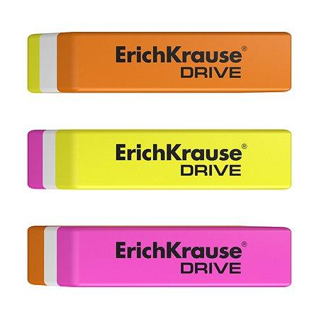 Набор 3 ластика Erich Krause DRIVE в блистере