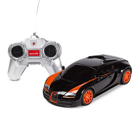 Машинка радиоуправляемая Rastar Bugatti GS Vitesse 1:24 черная