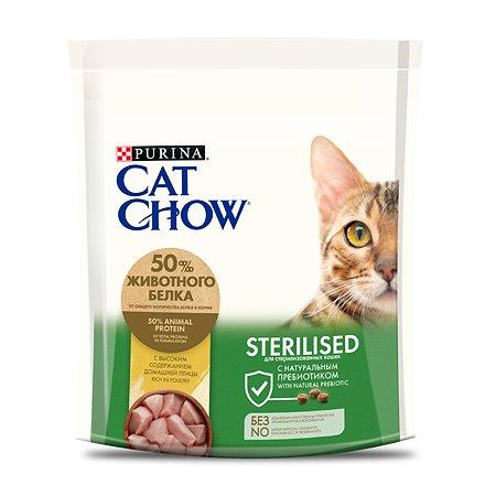 Корм сухой для кошек Cat Chow 400г с высоким содержанием домашней птицы при стерилизации и кастрации