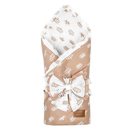 Одеяло на выписку AMARO BABY Daisy Королевский Коричневый