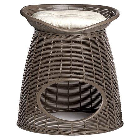 Домик для кошек Bama Pet Pasha с подушечками Светло-коричневый-Бежевый 19120