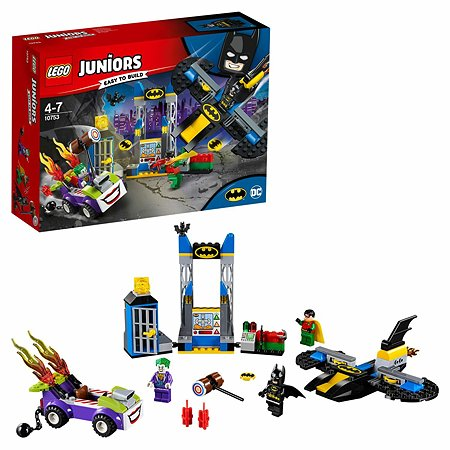 Конструктор LEGO Нападение Джокера на Бэтпещеру Juniors (10753)