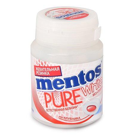 Резинка жевательная Ментос Pure White со вкусом клубники 45г