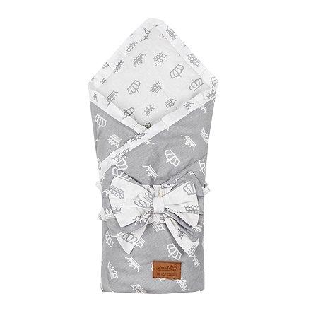 Одеяло на выписку AMARO BABY Daisy Серебро ABDM-6003-SE