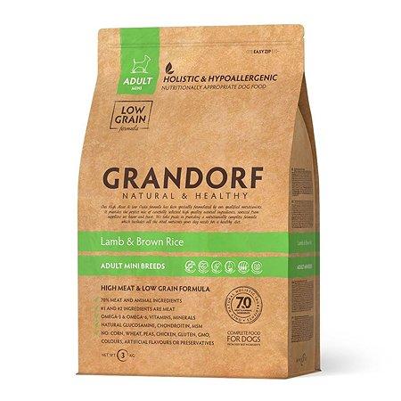 Корм для собак Grandorf мелких пород ягненок с бурым рисом 3кг