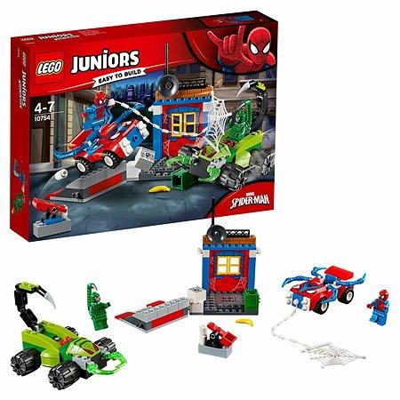 Конструктор LEGO Решающий бой Человека-паука против Скорпиона Juniors (10754)