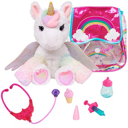 Игрушка мягкая Barbie Единорог с набором врача 62761
