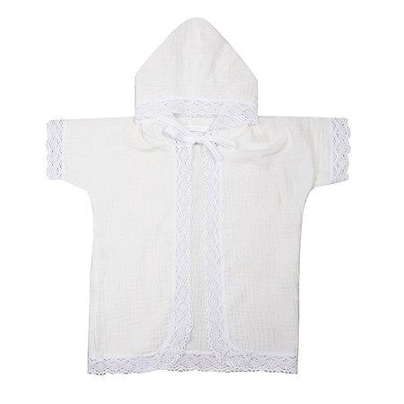 Рубашечка крестильная BabyEdel с капюшоном 15505