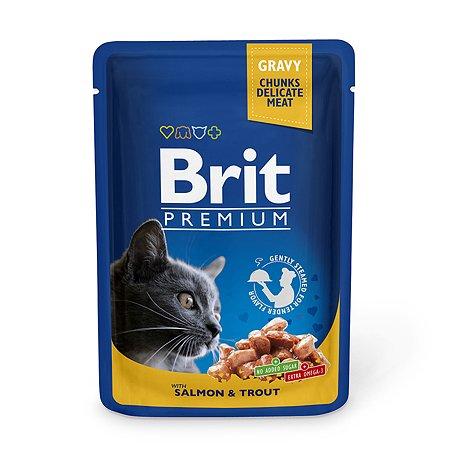 Корм влажный для кошек Brit Premium 100г лосось-форель