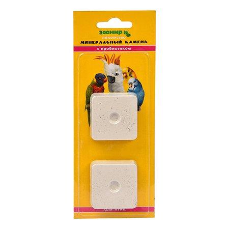 Лакомство для птиц Зоомир минеральный камень с пробиотиком 2 шт.