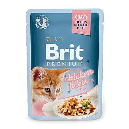 Корм влажный для кошек Brit Premium 85г курица в соусе
