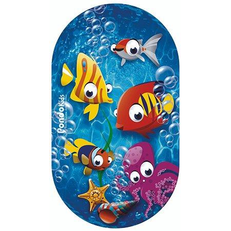 Коврик для ванной Pondo Рыбки Бирюзовый