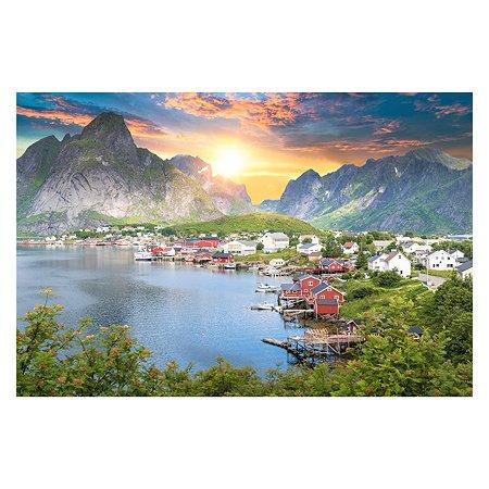 Холст для рисования по номерам Рыжий кот Красивый горный пейзаж Х-9204