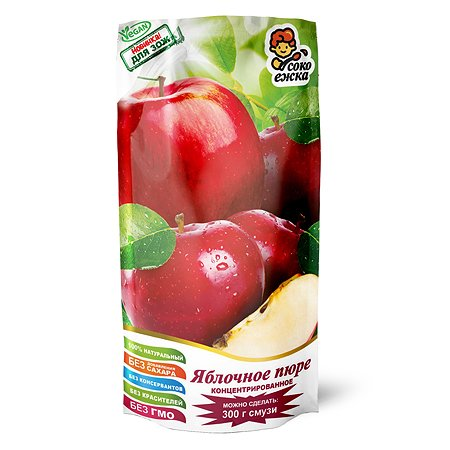 Пюре Сделай смузи сам концентрированное яблочное 100г