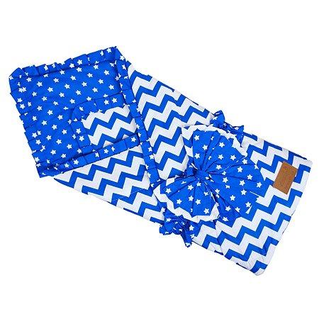 Одеяло на выписку AMARO BABY Уголки Синий