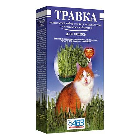 Пищевая добавка для кошек АВЗ Травка Лоток для проращивания с питательным субстратом 14845