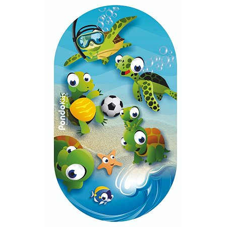 Коврик для ванной Pondokids Черепаха Голубой