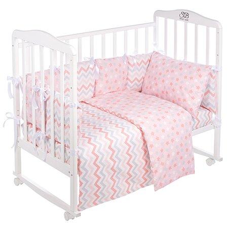 Комплект в кроватку Sweet Baby Anastasia 4предмета Rosa Розовый