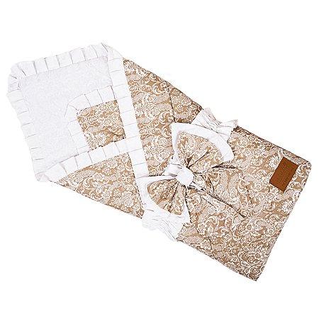 Одеяло на выписку AMARO BABY Люкс Коричневый