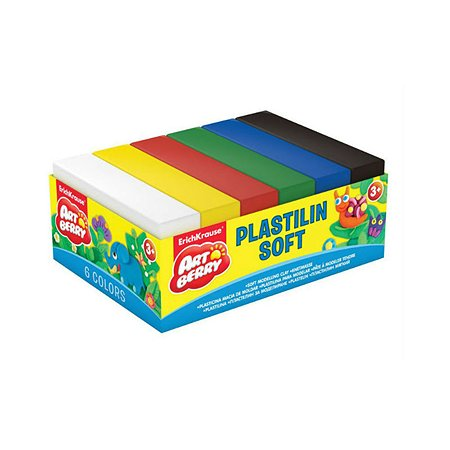Пластилин ArtBerry мягкий 6цветов 300г 33302