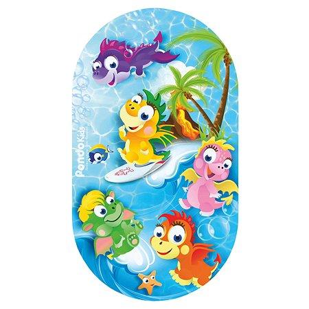Коврик для ванной Pondo Дракоши Голубой