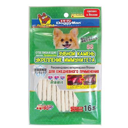 Лакомство для собак DoggyMan отбеливающие палочки с глобигеном SS 16шт 55г