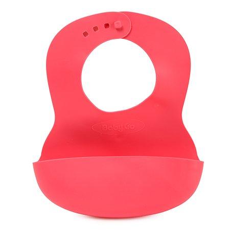 Нагрудник BabyGo Red с карманом O1-0010