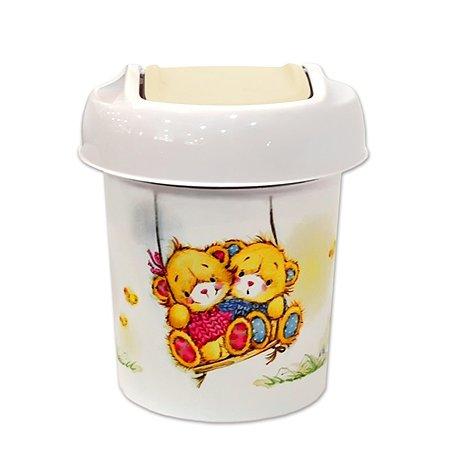 Корзина для мусора Little Angel круглая   1 л Bears