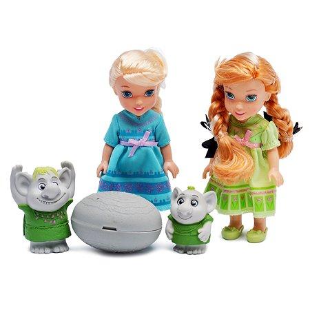2 Принцессы Disney Холодное Сердце (15 см)и тролли