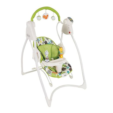 Электрокачели Graco Swing n Bounce цвет Bear Trail