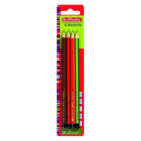 Набор карандашей Herlitz 4ш.2В-НВ