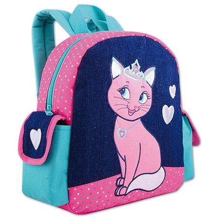 Рюкзак Феникс + Кошечка в короне Розово-бирюзовый