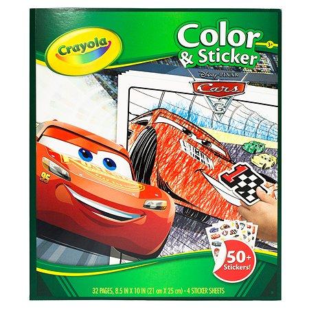 Раскраска Crayola с наклейками Тачки 3