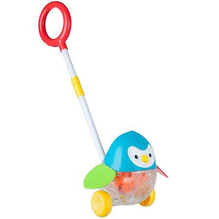 Каталка с ручкой Bondibon Пингвин ВВ2379
