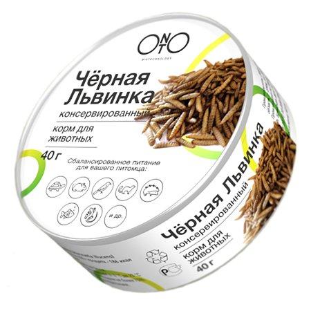 Корм для насекомоядных животных ONTO черная львинка консервированный 40г