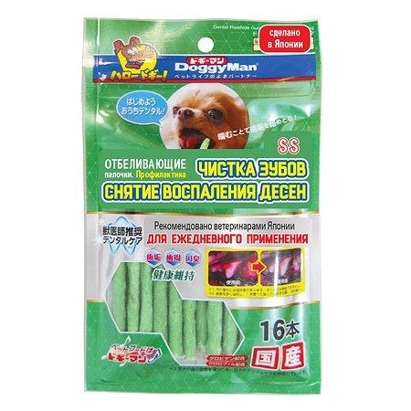 Лакомство для собак DoggyMan отбеливающие палочки с хлородентом SS 16шт 55г
