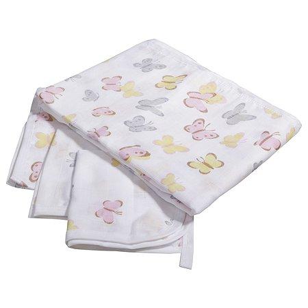 Комплект пеленок BabyEdel Бабочки 4шт Разноцветный 28062