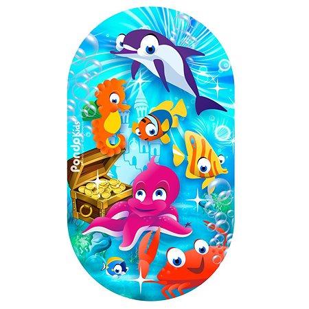 Коврик для ванной Pondokids Морские жители Голубой