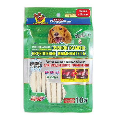 Лакомство для собак DoggyMan отбеливающие палочки с глобигеном S 10шт 75г