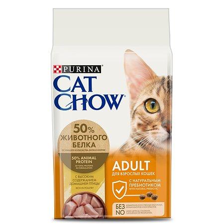 Корм сухой для кошек Cat Chow 1.5кг с домашней птицей и индейкой