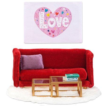 Мебель для домика Lundby Смоланд Гостиная 7предметов LB_60208100