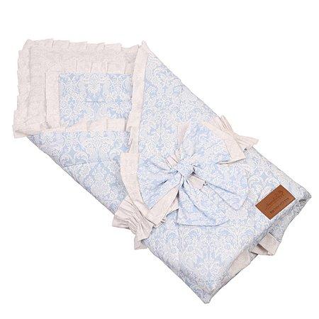 Одеяло на выписку AMARO BABY Люкс Голубой