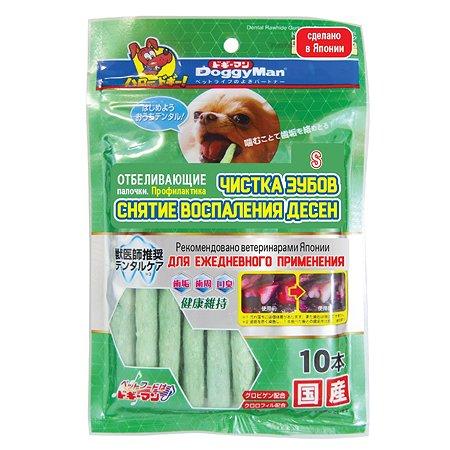 Лакомство для собак DoggyMan отбеливающие палочки с хлородентом S 10шт 75г